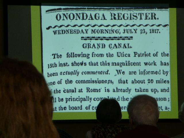Erie Canal presentation at Avila