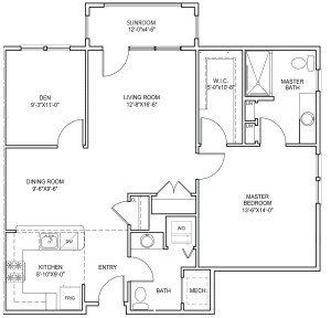 Sagamore two floor plan