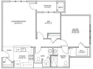 Sagamore three floor plan