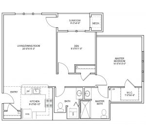 Sagamore three floor plan
