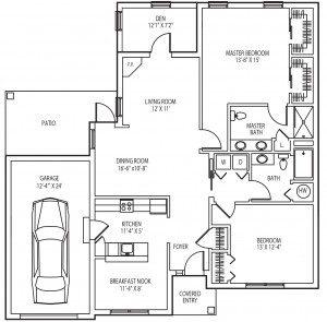 Fairview cottage floor plan
