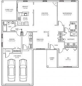 Pinebrook cottage floor plan