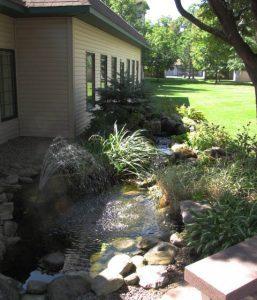 avila garden with waterfall