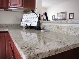 Close up of the counter top.