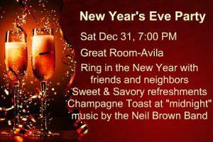 Avila New Years Eve Party