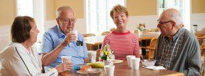 4 residents having cofee