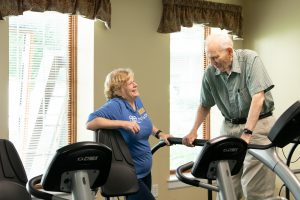 Fitness Rehab Specialist at Avila with resident