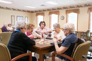 groups of ladies playing games