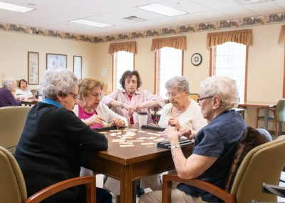 groups of ladies playing games