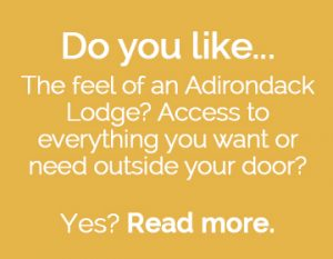 Question to reader: Do you like the feel of the Adirondacks?