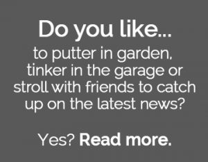 Question to reader. Do you like to putter in the garden