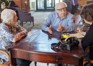 Interview with two residents - one turning 100 at Ávila
