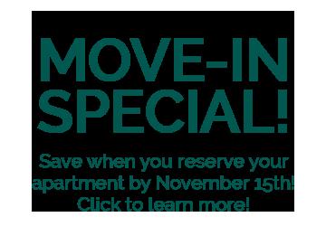 MoveInSpecial Now thru Nov 15